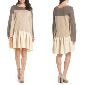 Caara Colorblock Cashmere Shift Dress Size XS NWT